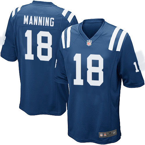 Peyton Manning Nike Indianapolis Colts Game Royal Blue Team Color Jersey