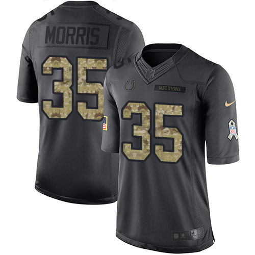 Darryl Morris Nike Indianapolis Colts Limited Black 2016 Salute to Service Jersey